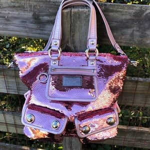 Coach Pink Sequin Spotlight Poppy Sequin Rare Bag